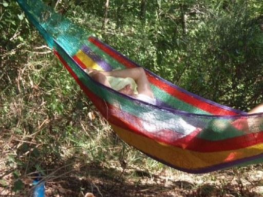Hangmatten van Icolori op camping Faranghe in Italië