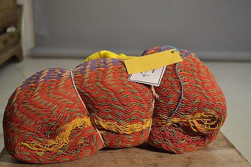 Mexicaanse hangmat opgevouwen