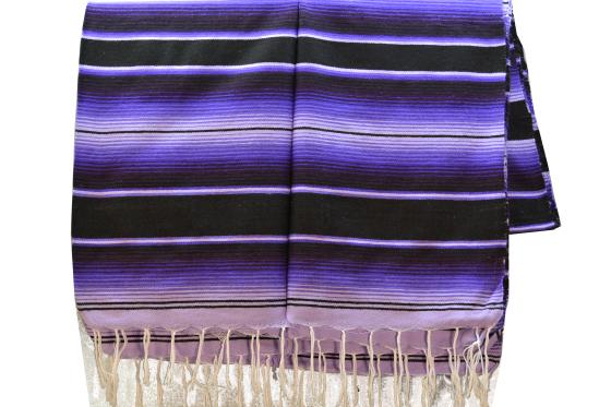 Mexicaanse serape deken tweekleurig
