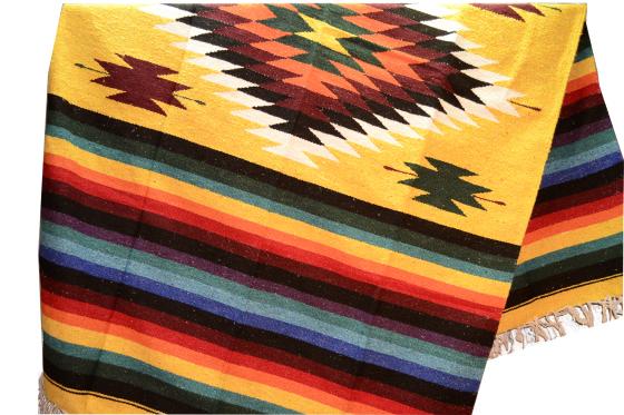 Indiaanse dekens als plaid