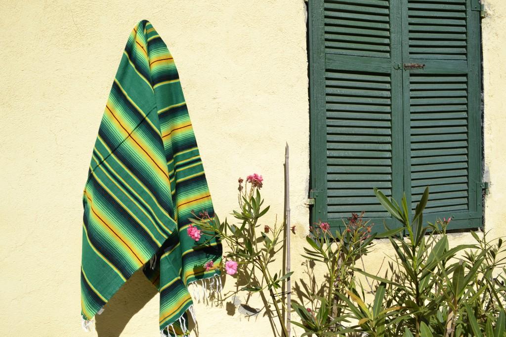 Mexicaanse deken serape groen