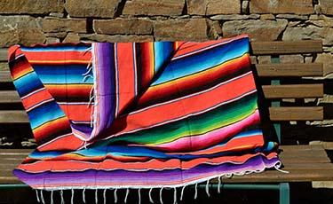 Coperta messicana serape. Arancione