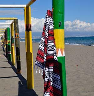 Mexicaanse falsa deken op het strand