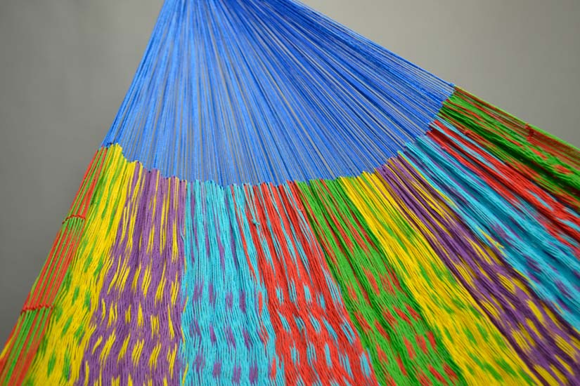 Mexican hammock with short suspension lines. XL