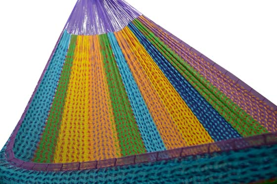 Mexican hammock with short suspension lines. XXXL