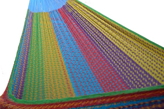 Mexican hammock with short suspension lines. XXL