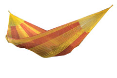 Mexican hammock with short suspension lines. Large