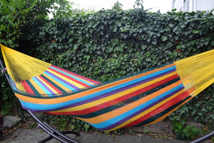 Hangmat Met Rvs Frame.Grote Tweepersoons Hangmat