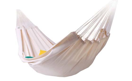 Hamac brésilien XL Blanc/écru