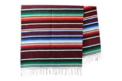 Mexicaanse deken<br/>Serape , 215 x 145 cm<br/>ABMZZ0brown1