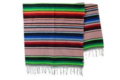 Mexicaanse deken<br/>Serape , 215 x 145 cm<br/>ABMZZ0rose1