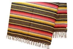 Mexican blanket,Serape. Brown