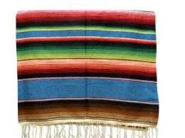 Couverture mexicaine -  Serape - XL - Blue - BBBZZ0blu1