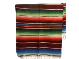 Couverture mexicaine -  Serape - XL - Brun - BBBZZ0brown