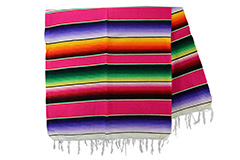 Couverture mexicaine -  Serape - XL - Rose - BBBZZ0pink