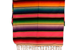 Couverture mexicaine -  Serape - XL - Rose - BBBZZ0pink1