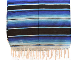 Couverture mexicaine -  Serape - XL - Blue - BBBZZ1blackblu1