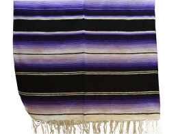 Mexican blanket - Serape - XL - Purple - BBBZZ1blackpurple1