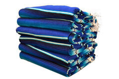 Couverture mexicaine -  Serape - XL - Blue - BBBZZ1blu5