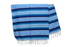 Couverture mexicaine -  Serape - XL - Blue - BBBZZ1blu6