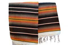Couverture mexicaine -  Serape - XL - Brun - BBBZZ1browngold1