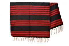 Mexicaanse deken - Serape - XL - Zwart