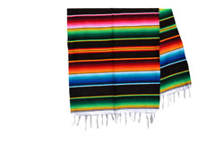 Couverture mexicaine -  Serape - XL - Noir - BBXZZ0black