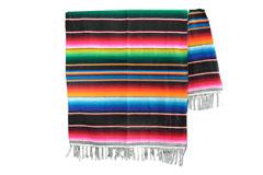 Mexicaanse deken - Serape - XL - Zwart - BBXZZ0black2