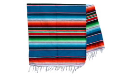 Couverture mexicaine -  Serape - XL - Blue - BBXZZ0blu1