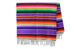 Couverture mexicaine -  Serape - XL - Violet - BBXZZ0fuchsia1