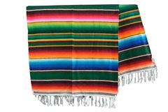 Mexicaanse deken - Serape - XL - Groen - BBXZZ0green4