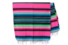 Couverture mexicaine -  Serape - XL - Rose - BBXZZ0hotpink