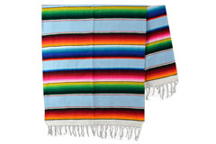 Couverture mexicaine -  Serape - XL - Blue - BBXZZ0lightblu