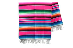 Couverture mexicaine -  Serape - XL - Rose - BBXZZ0pink3