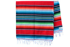 Couverture mexicaine -  Serape - XL - Rouge