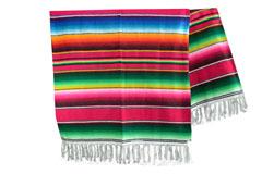 Mexicaanse deken - Serape - XL - Rood - BBXZZ0red3