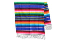 Mexican blanket - Serape - XL - Blue - BBXZZ0royalblu