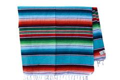 Mexicaanse deken - Serape - XL - Turquoise