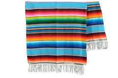 Mexicaanse deken - Serape - XL - Turquoise - BBXZZ0turq2