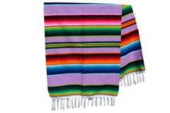 Mexikanische Decke -  Serape - XL - Violett  - BBXZZ0violet
