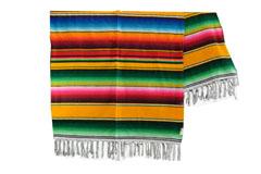 Couverture mexicaine -  Serape - XL - Jaune - BBXZZ0yellow2