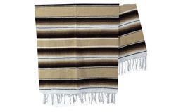 Couverture mexicaine -  Serape - XL - Brun - BBXZZ1beigebrown1