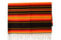 Mexican blanket - Serape - XL - Black - BBXZZ1blackred
