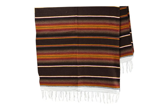 Couverture mexicaine -  Serape - XL - Brun
