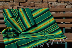 Mexican blanket - Serape - XL - Green - BBXZZ1greenyellow1