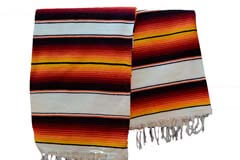 Couverture mexicaine -  Serape - XL - Blanc - BBXZZ1whitegold