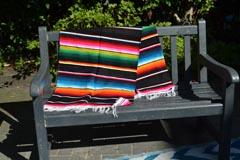 Mexikanische Decke -  Serape - L - Schwartz
