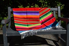 Couverture mexicaine -  Serape - L - Rouge
