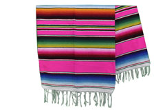 Couverture mexicaine -  Serape - L - Rose - BPXZZ0hotpink
