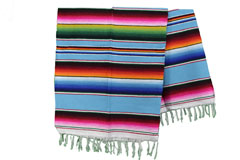 Mexican blanket - Serape - L - Turquoise - BPXZZ0turq